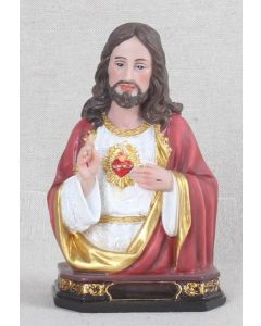 """6"""" Sacred Heart Of Jesus Bust Statue"""