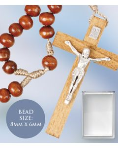 Rosary - Wood Corded