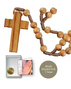 Rosary of Olive Wood  with Cross