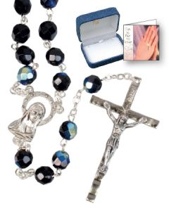 Glass Rosary - Black