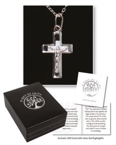 Sterling Silver Crucifix & Chain/Gift Boxed