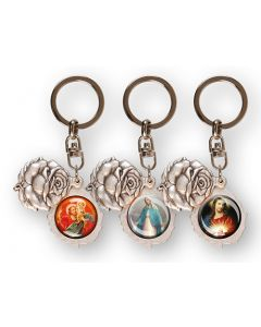 Rose Bud Key Ring/Assorted Subjects