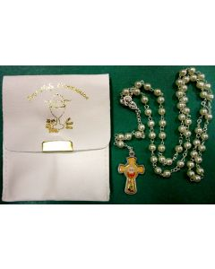 First Communion Rosary in Pouch