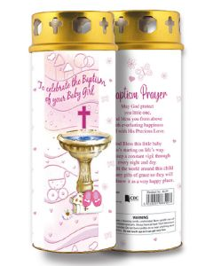 Candle/Christening - Baby Girl