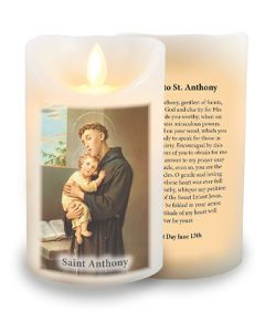LED Candle/Scented Wax/Timer/St.Anthony