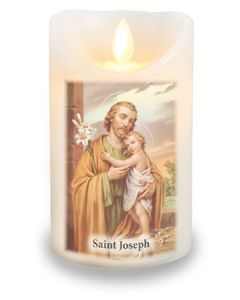 LED Candle/Scented Wax/Timer/St.Joseph