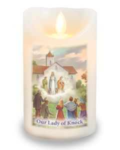 LED Candle/Scented Wax/Timer/Lady of Knock