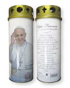Candle/Pope Francis/Windproof Cap