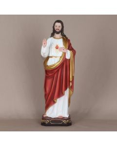 24 Inch sacred Heart of Jesus Statue- Polyresin